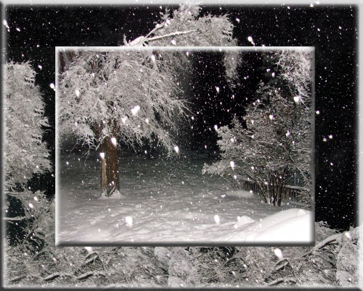 This was a simple photo collage I did to enhance the beauty of the winter wonderland we were experiencing.