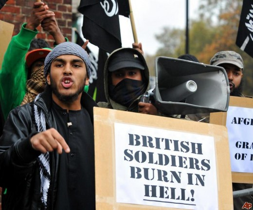 Armistice Event disrupted by Muslims.