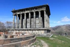 The ancient temple Garni in spring
