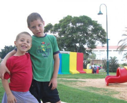 Little boys on playground