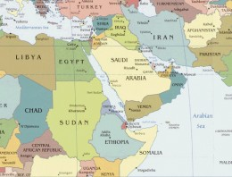 Tiny Israel, can you see the white X I put between Egypt and Syria?