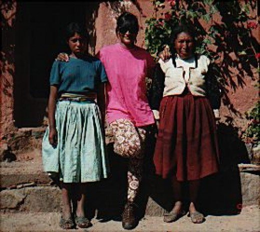 12 year old girl, me and her grandma on Amantani Island