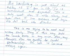 chicken scratch handwriting analysis