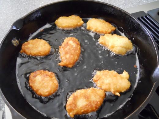 Fry until golden brown