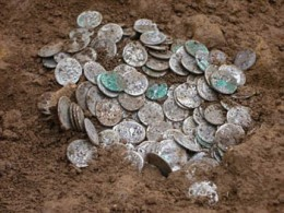 Of course coins that have been underground for a few years certainly won't be in mint condition. some collectors like to keep them in the condition found while others prefer to clean them up.