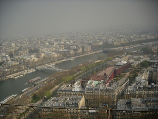 View from the 2nd floor of Eiffel Tower