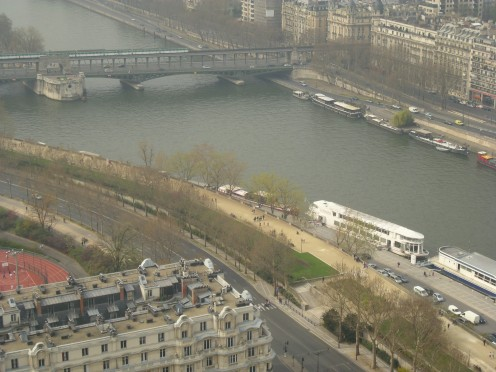View of Seine from the 2nd floor
