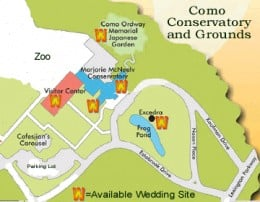 Como Zoo and Conservatory Map