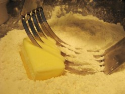 A pastry cutter will make the mixing process much easier.