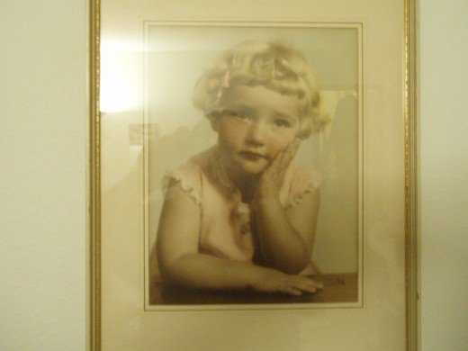 Roberta, as a little girl.