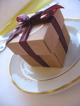 Boxed wedding favor