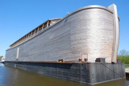 Replica of Noahs Ark built by Dutch contractor Johan Huibers. Has a steel frame.