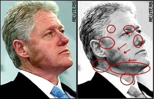 Clearly Mr. Clinton's masseter muscles are evidence of his scaly, green interior.