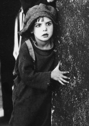 """Jackie Coogan in Charlie Chaplin's """"The Kid"""""""