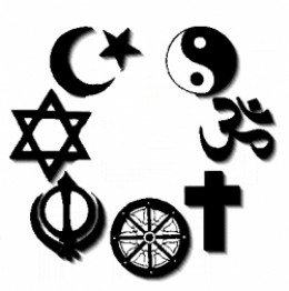 Different religions with different signs
