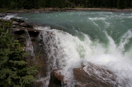 Close up of Athabasca Falls