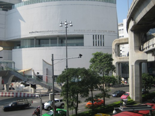 Bangkok Arts and Cultural Center is opposite from MBK mall
