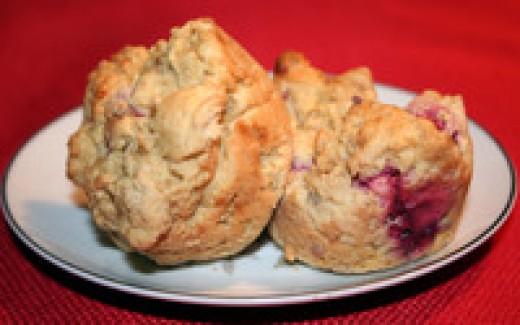 Raspberry Biscuit Muffins