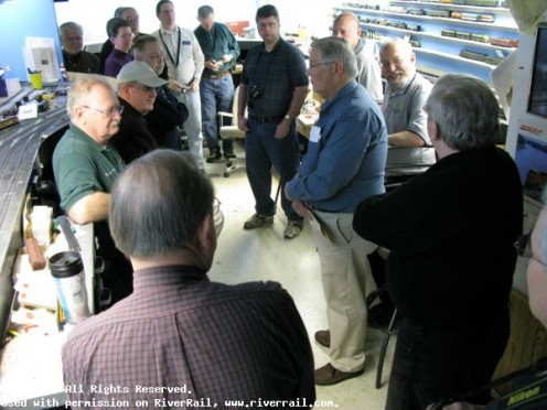 Social Networking in the Basement is a big part of the RiverRail Operations group in La Crosse, Wisconsin