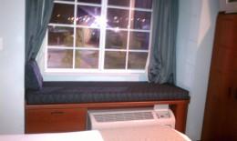 Neat bench window seat.
