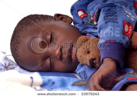 Sick boy sleeping.