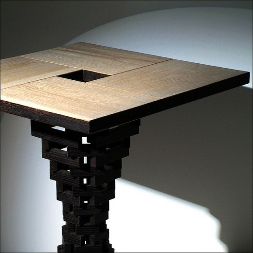 Oak wood table