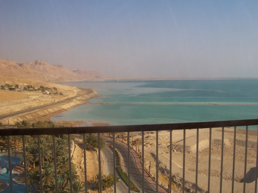 The Dead Sea taken from the balcony of my hotel room.