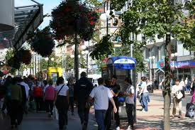 Street shopping in Belfast