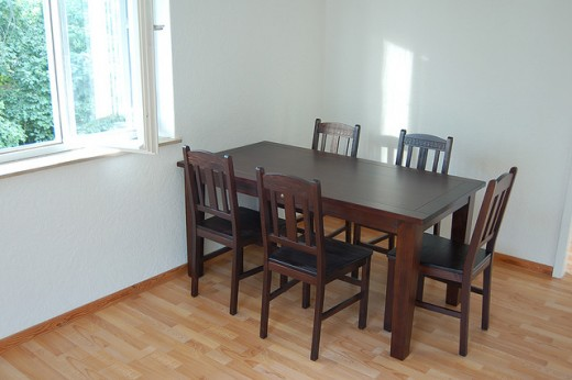 Pine wood dining table
