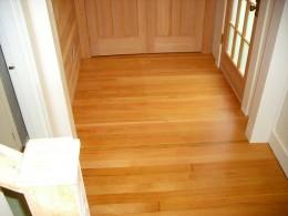 Fir wood flooring.