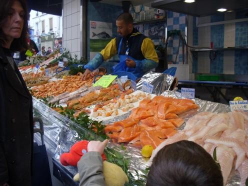 Fish Stand, Montmatre