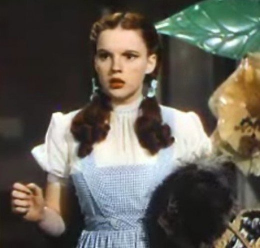"Judy Garland as Dorothy Gale in the 1939 Film ""The Wizard of Oz"" - Wearing an Apron"