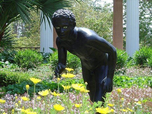 Boy in the Garden, Black Marble
