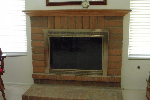 Our fireplace, after a DIY update