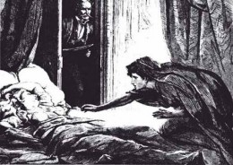 Illustration from the first publication of Carmilla.