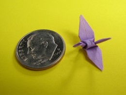 An origami crane can be made in any size!