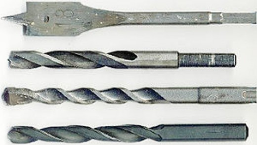 Spiral bit is shown at the top