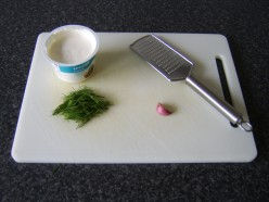 Soured cream, fresh dill and garlic form the dip