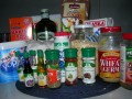 solid and liquid baking ingredients