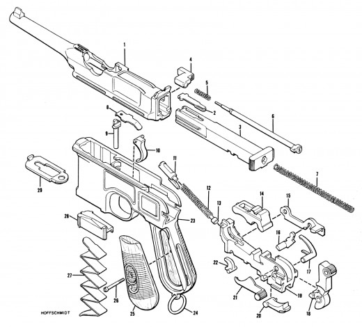 Mauser C96 9mm Schematic