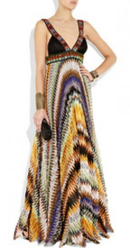 Missoni bead-embellished crochet-knit gown