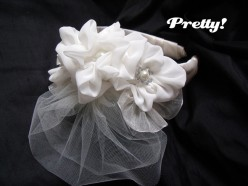 DIY wedding headband
