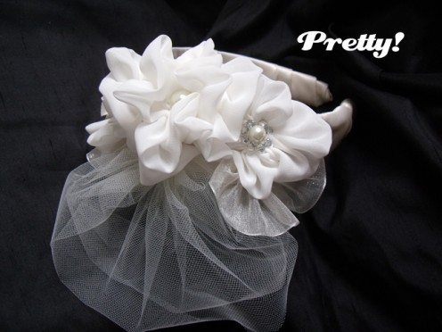 DIY wedding headband