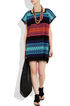 Missoni crocheted tulle tunic dress