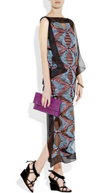 Missoni paneled crochet-knit maxi kaftan