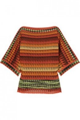 Missoni boxy crochet knit top