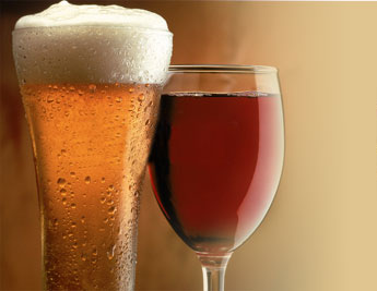 Alcohol damages the liver for living beings
