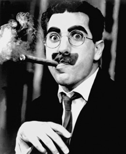 "Julius Henry ""Groucho"" Marx   (October 2, 1890 – August 19, 1977)   American comedian and film star"
