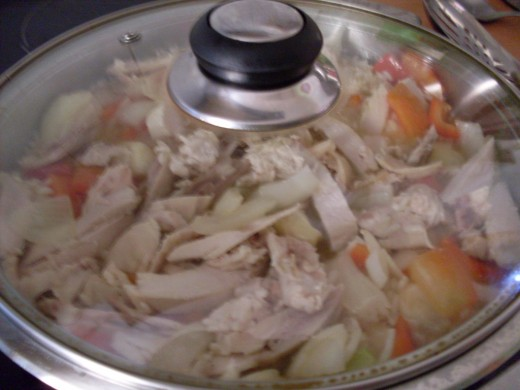 add in your chopped, cooked chicken