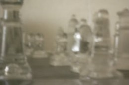 Chess pieces shot with my DIY pinhole lens